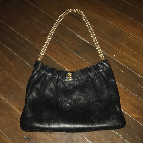 ande Bags   Vintage Black Leather Evening Chain Clutch Purse   Poshmark 74963724cd